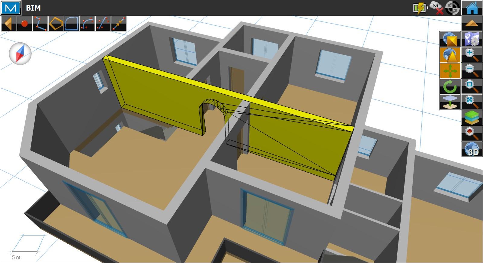 Software Magnet Field - V zobrazení Mapa, může uživatel zvětšovat, rotovat a měnit pohledy na model pro nejlepší zobrazení vybraných prvků.